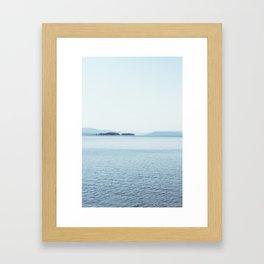 yellowstone lake i  Framed Art Print