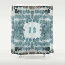 Sea Shell Disco Turquoise Shower Curtain