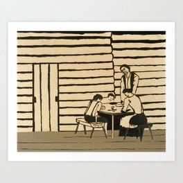 Family Supper by Horace Pippin, 1946 Art Print