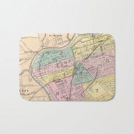 Vintage Map of Dayton Ohio (1872) Bath Mat