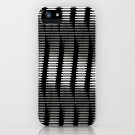 Spinning Columns - Steel - Futuristic Industrial Sci-Fi Pattern iPhone Case