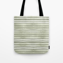 Simply Shibori Stripes Green Tea and Lunar Gray Tote Bag