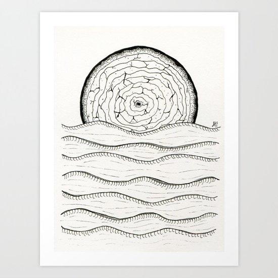 Wooden Sun Art Print