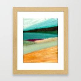 Baltic Sea landscape oil painting Framed Art Print