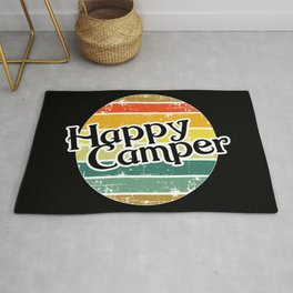 Happy Camper / Retro Vintage Camper Camping Rug
