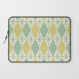 Diamonds and Starbursts Mint Laptop Sleeve