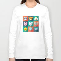 jazzberry Long Sleeve T-shirts featuring PET PARADE by Daisy Beatrice