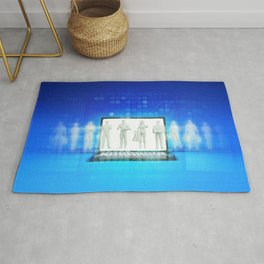 Online Shopping Concept for Products and Services Rug