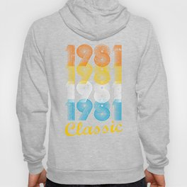 36th Birthday Gift Vintage 1981 T-Shirt for Men & Women T-Shirts and Hoodies Hoody