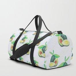 Hand Drawn Still Life Avocado Pattern Duffle Bag