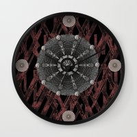 celtic Wall Clocks featuring Celtic Pattern by Pepita Selles