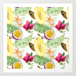 Fruits and Flowers Art Print