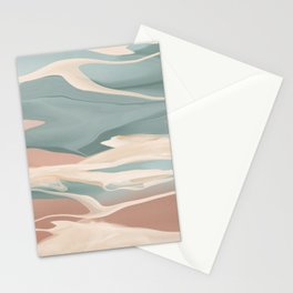 Calming Waves Modern Abstract  Stationery Cards
