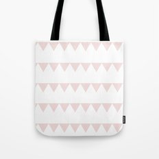 TRIANGLE BANNER (Muted Pink) Tote Bag