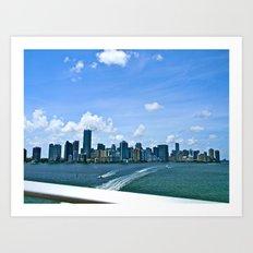 MIA Skyline Art Print