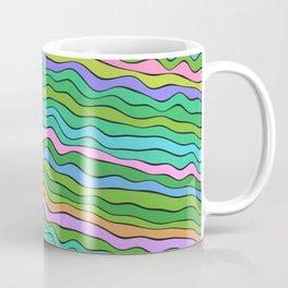 Noisy waves in green Coffee Mug
