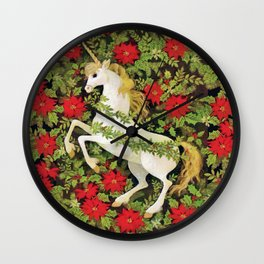 Christmas Unicorn Wall Clock