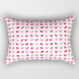 Little Painted Hearts Rectangular Pillow