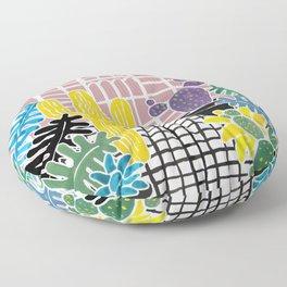 Cacti & Succulent Greenhouse Floor Pillow