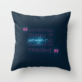Just Magic Throw Pillow