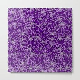 Purple Cobwebs Metal Print