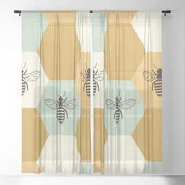 Beehive Sheer Curtain