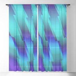 Abstract 105 DDQ Sheer Curtain