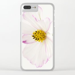 Sensation Cosmos White Bloom Clear iPhone Case