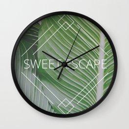 Sweet Escape Wall Clock