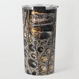 American alligator Leather Print Travel Mug