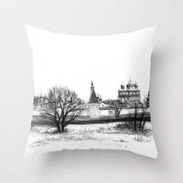 Iossio-Volotzky monastery SK0138 Throw Pillow