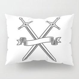 Medieval swords knight crusader with ribbon Pillow Sham