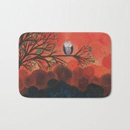 Owl Art by MiMi Stirn - Owl Singles #337 Bath Mat