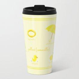 Colors: yellow (Los colores: amarillo) Travel Mug