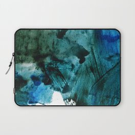 Scenic Route: a pretty, minimal abstract piece in blue and green by Alyssa Hamilton Art Laptop Sleeve