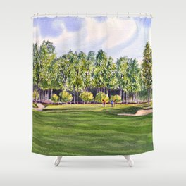 Pinehurst Golf Course No2 Hole 17 Shower Curtain