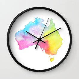 Australia   Map Illustration Wall Clock
