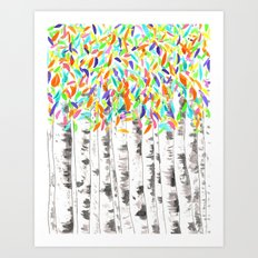 British Beeches Art Print
