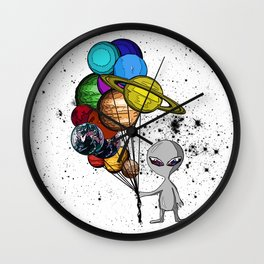 Casual Alien Wall Clock