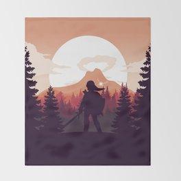 The Legend of Zelda - Orange Version Throw Blanket