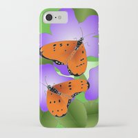 coasters iPhone & iPod Cases featuring Tawny Coasters by Lakshmi Gosyne