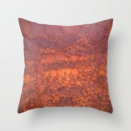 Percolated Sunset in Warm Tones Throw Pillow