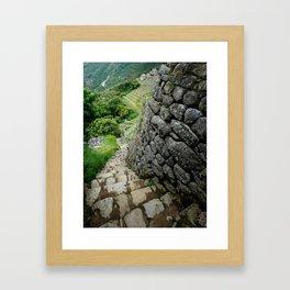 Peru Stairway to Nowhere Framed Art Print