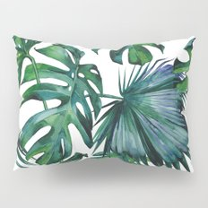 Tropical Palm Leaves Classic Pillow Sham