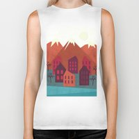 mountains Biker Tanks featuring Mountains by Kakel