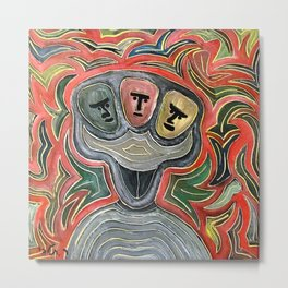 Three faces by rafi talby Metal Print