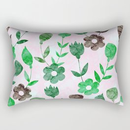 Watercolor Floral IV Rectangular Pillow