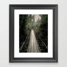 Forest Bridge Framed Art Print