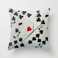 poker Throw Pillows featuring Poker by Jackie