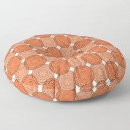 Red & Orange Circles Floor Pillow